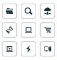 set of simple notebook icons vector image vector image