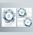 set of wedding invitation template with flower vector image vector image