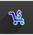 Shopping cart symbol backgroundclean vector image