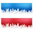 silhouette city landscape vector image
