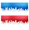 silhouette of city landscape vector image