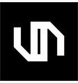 simple un n no uon initials simple geometric logo vector image