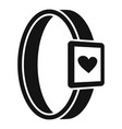 smartwatch heart monitor icon simple style vector image vector image
