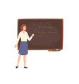 smiling young female school or college teacher vector image