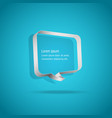speech bubbles on blue background vector image vector image