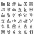 sports doctor icons set outline style vector image vector image