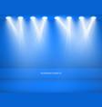 studio background empty blue studio for vector image