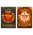 thanksgiving party poster templates set vector image vector image