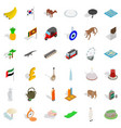 tourism icons set isometric style vector image vector image