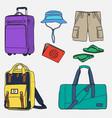 travelers starter pack vector image vector image