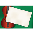 violin background vector image vector image