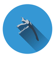 Waiter corkscrew icon vector image vector image