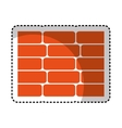 wall bricks isolated icon vector image vector image