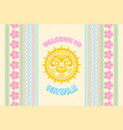welcome to hawaii background in polynesian style vector image vector image