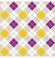 yellow and purple argyle harlequin seamless patter vector image vector image