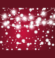 christmas background with xmas lights vector image