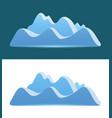 logo of blue mountains vector image