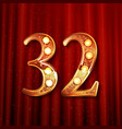 32 years anniversary celebration logotype vector image vector image