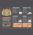 a design fast food vector image