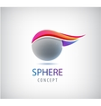 abstract sphere logo global round company vector image vector image