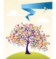 Abstract spring tree landscape vector image vector image