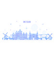 amsterdam skyline netherlands city building vector image