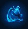 aquarius zodiac sign blue star horoscope symbol vector image vector image
