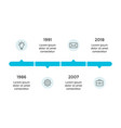 arrows circles timeline infographic vector image vector image