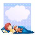 Banner with boy sleeping vector image vector image