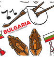 bast shoes and gaida bulgarian national instrument vector image vector image