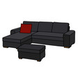 big black sofa vector image vector image