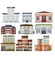 Big buildings vector image vector image