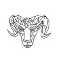 bighorn sheep ram mosaic black and white vector image vector image