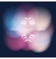 blurry background with bokeh vector image vector image