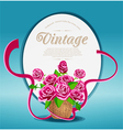 bouquet of pink roses vector image vector image