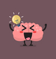 brain character has a great idea vector image