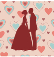 Bride and Groom Silhouette - vector image vector image