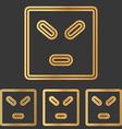Bronze line anger logo design set vector image vector image