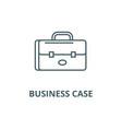 business case portfolio line icon vector image vector image