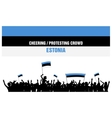 Cheering or Protesting Crowd Estonia vector image vector image