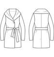 coat vector image vector image