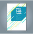 cover annual report 892 vector image vector image