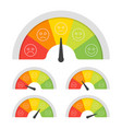 customer satisfaction meter with different vector image vector image