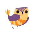 cute owlet adorable colorful owl bird vector image vector image
