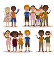 Disabled children with friends