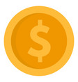 Dollar money coin icon flat style