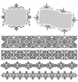 elegant border and frame vector image vector image