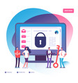 email encryption internet data protection vector image vector image