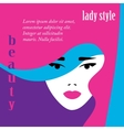 Fashion lady retro style vector image vector image