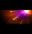 fireworks dark night background for celebration vector image vector image